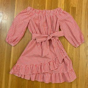 LF Red Gingham Dress